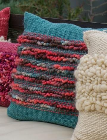 diseños de cojines decorativos tejidos