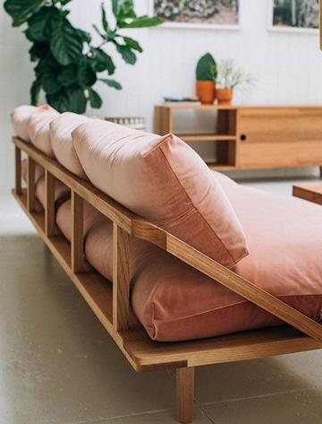modelos de cojines para muebles de madera