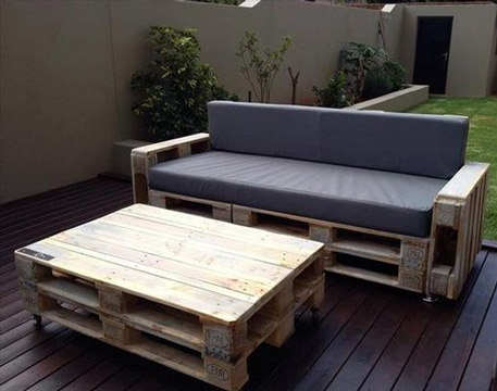Cojines para sofa palets affordable sof de palets with - Cojines para palets exterior ...