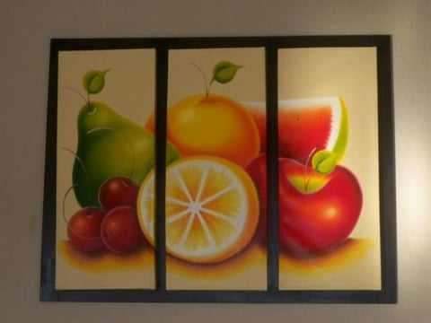 pinturas al oleo de frutas estilo moderno