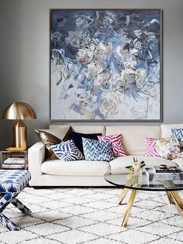 pinturas modernas al oleo para sala