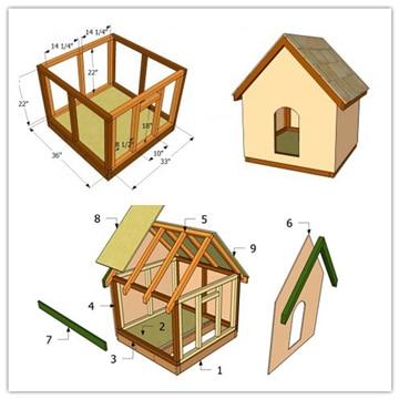 planos de casas para perros sencilla