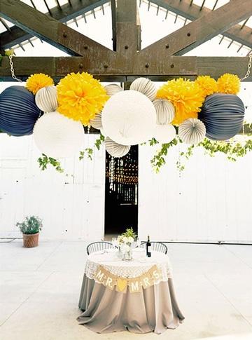 adornos para salon de boda colgantes
