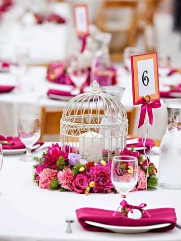 adornos para salon de boda con flores