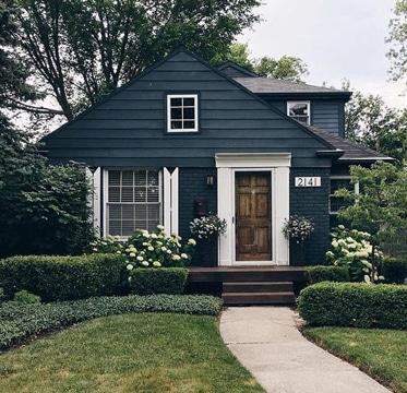 colores para pintar la casa por fuera tonos oscuros