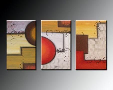cuadros abstractos tripticos pequeños