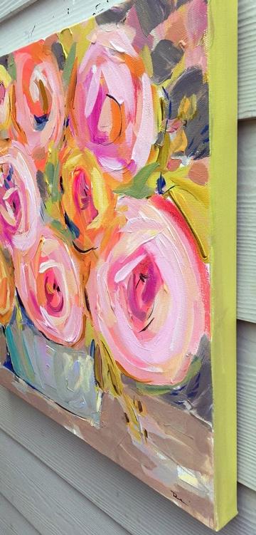 cuadros al oleo de flores grandes para decorar