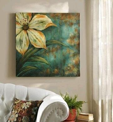 cuadros de flores al oleo ideas decoracion