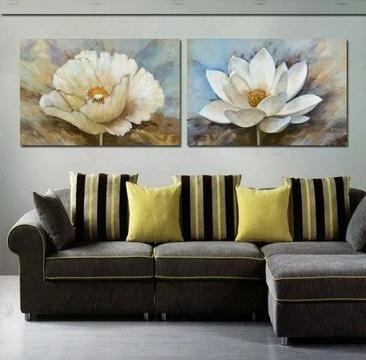 cuadros de flores al oleo para adornar