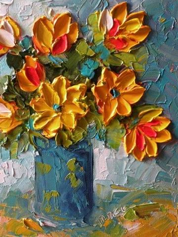 cuadros de flores en acrilico atractivos