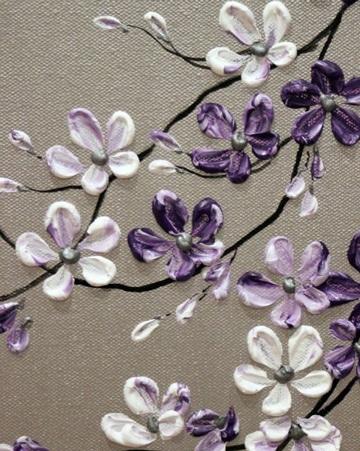 cuadros de flores en acrilico pequeños
