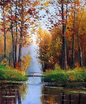 cuadros de paisajes al oleo arboles