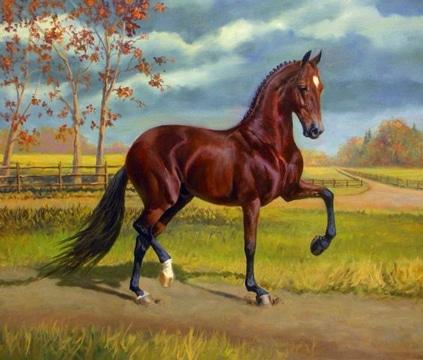 cuadros de paisajes al oleo con animales