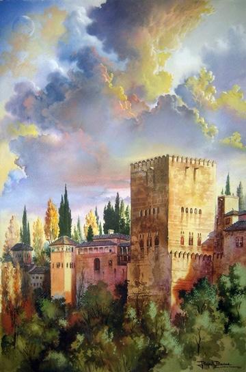 cuadros de paisajes al oleo con castillos