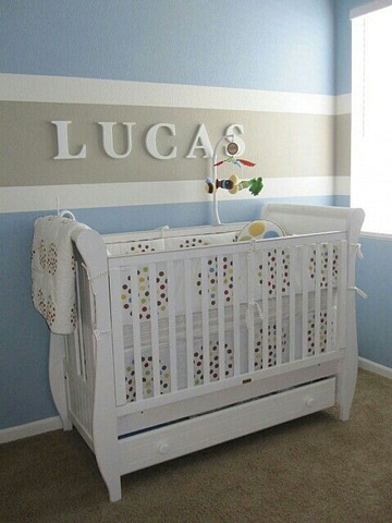 Adornos e ideas para la decoracion cuarto de bebe varon - Ideas para decorar el cuarto del bebe ...