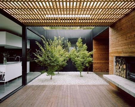 decoracion de patios internos y frescos