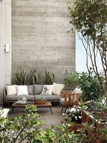 decoracion de terrazas con plantas acogedoras