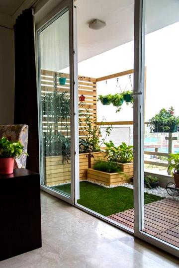 Una Agraciada Decoracion De Terrazas Con Plantas