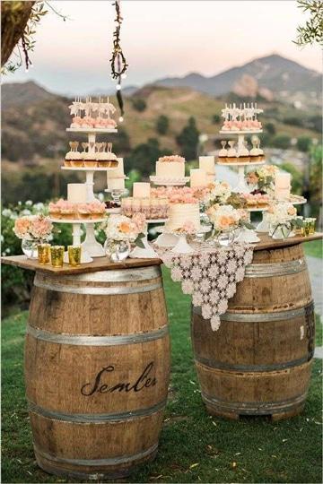 decoraciones rusticas para bodas con rosas