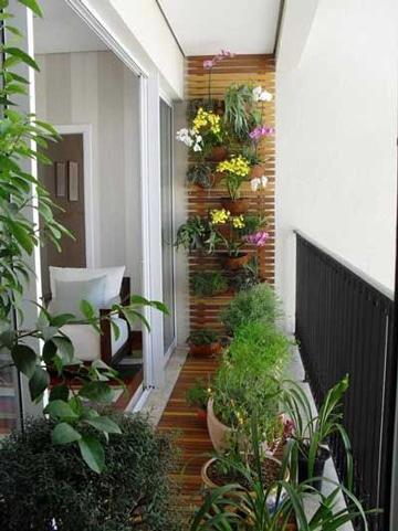 diseño de balcones para casas pequeñas con plantas