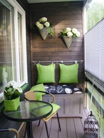 diseño de balcones para casas pequeñas ideas combinacion