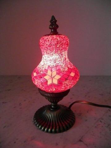 lamparas de cristal de colores pequeñas