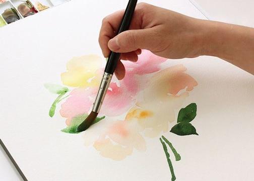 tecnicas para pintar flores con pincel