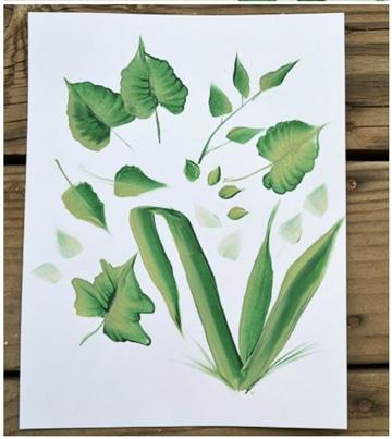 tecnicas para pintar flores y hojas