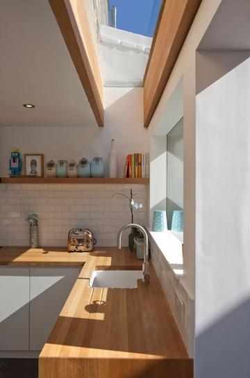 tragaluz de vidrio para techo en cocina