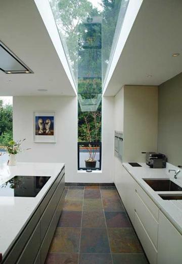 tragaluz de vidrio para techo ideas modernas