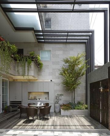 tragaluz de vidrio para techo ideas terraza