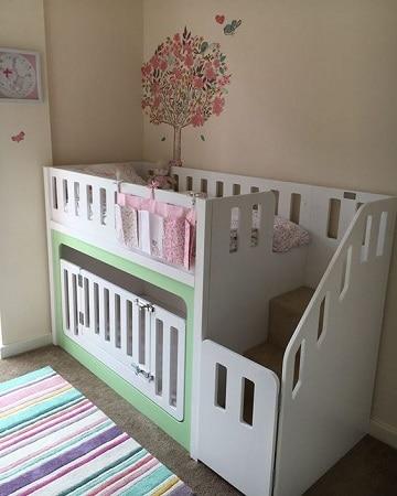 camas para niños de dos años mujeres