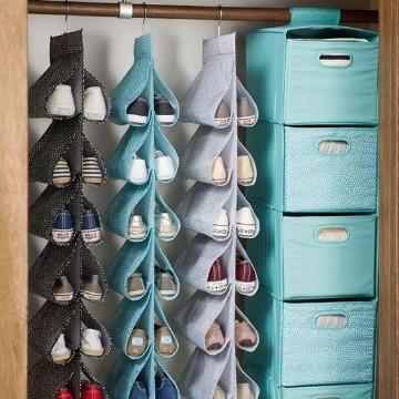 como organizar mis zapatos en poco espacio