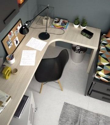 cuartos de estudio modernos juveniles