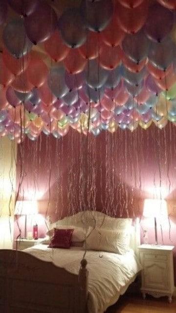 Ideas e imagenes de cuartos decorados con globos como - Cosas para decorar la habitacion ...
