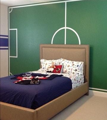 cuartos decorados de futbol para niños