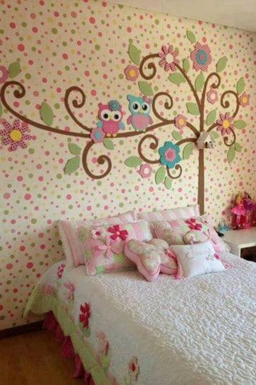 cuartos para niña de 12 años buhos