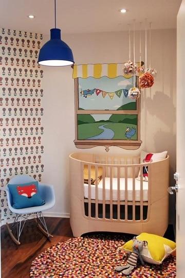 Sutil decoracion con dibujos para cuartos de bebes como for Disenos de cuartos para ninas sencillos