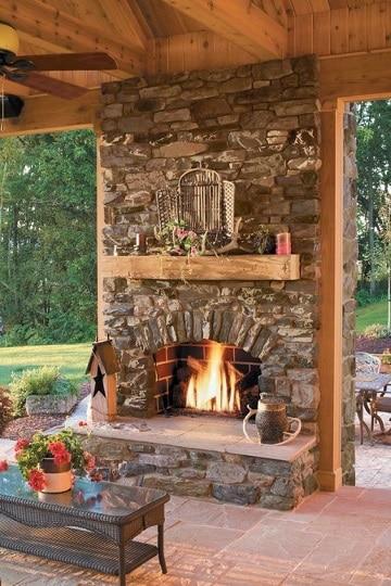 diseños de chimeneas para casas al aire libre