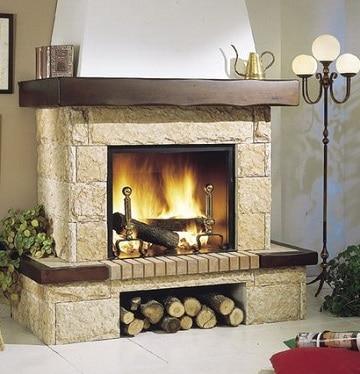 diseños de chimeneas para casas con leña