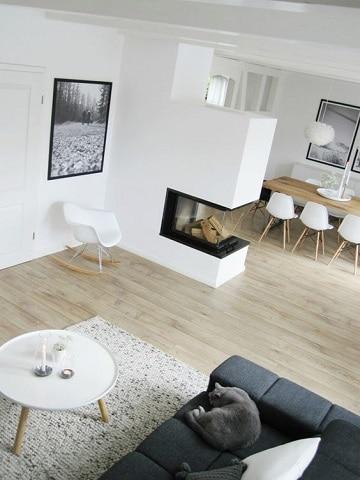 diseños de chimeneas para casas moderna
