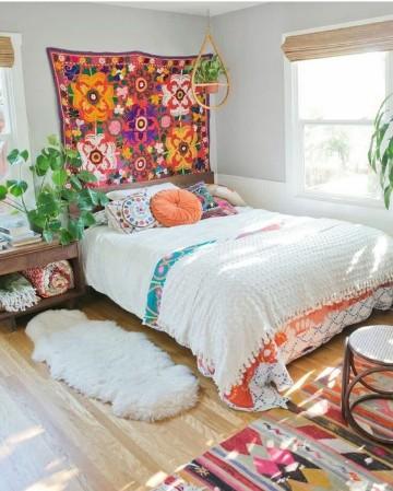dormitorios boho chic para parejas