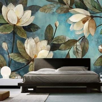 flores pintadas en la pared diseño