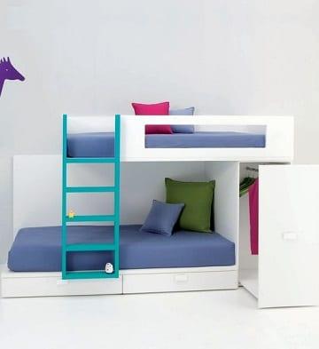 habitaciones infantiles dobles modernas