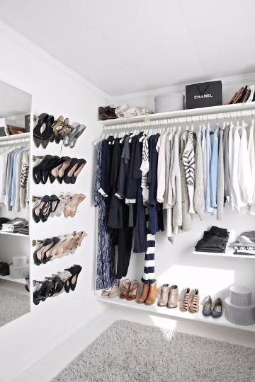 ideas para closets pequeños para mujer