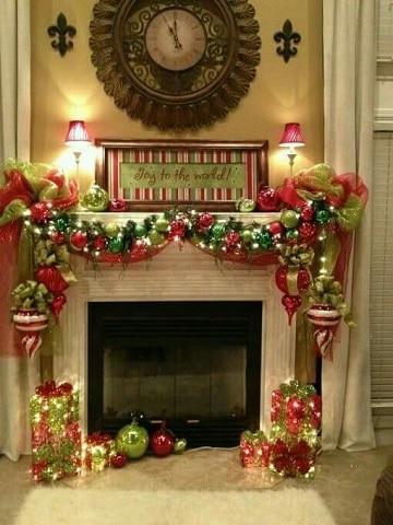 imagenes de chimeneas navideñas clasicas