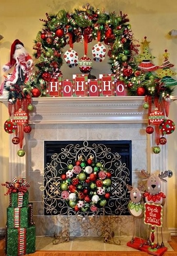 imagenes de chimeneas navideñas modernas