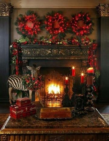 imagenes de chimeneas navideñas originales