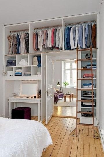 imagenes de closet para habitaciones pequeñas
