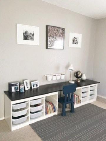 Estudios decorados y modelos de escritorios para niños